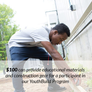 YouthBuild Donate button