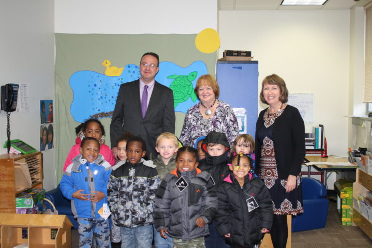 CEO Receives Donation from Rensselaer County Coats for Kids Program