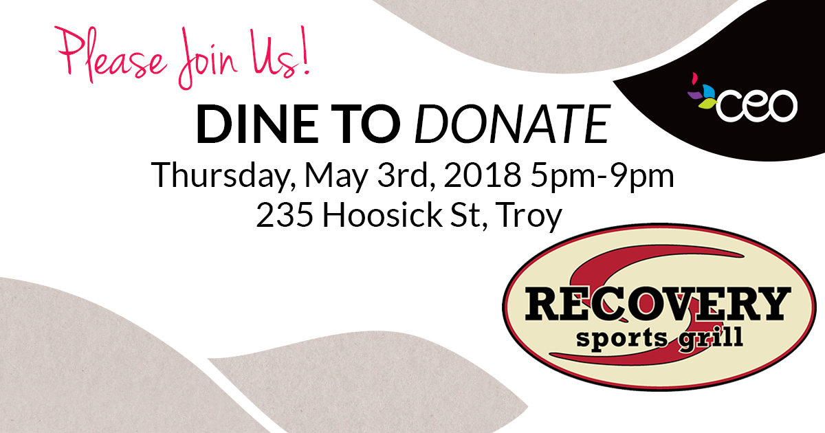 Dine to Donate at the Recovery Room