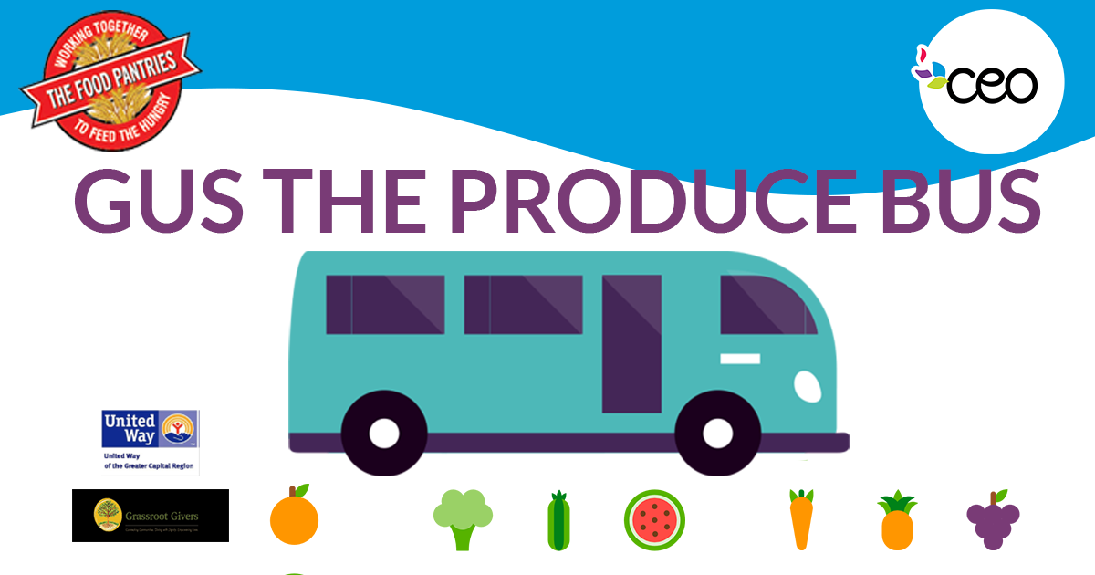 Gus the Produce Bus is Coming to the Lansingburgh FRC this Summer!