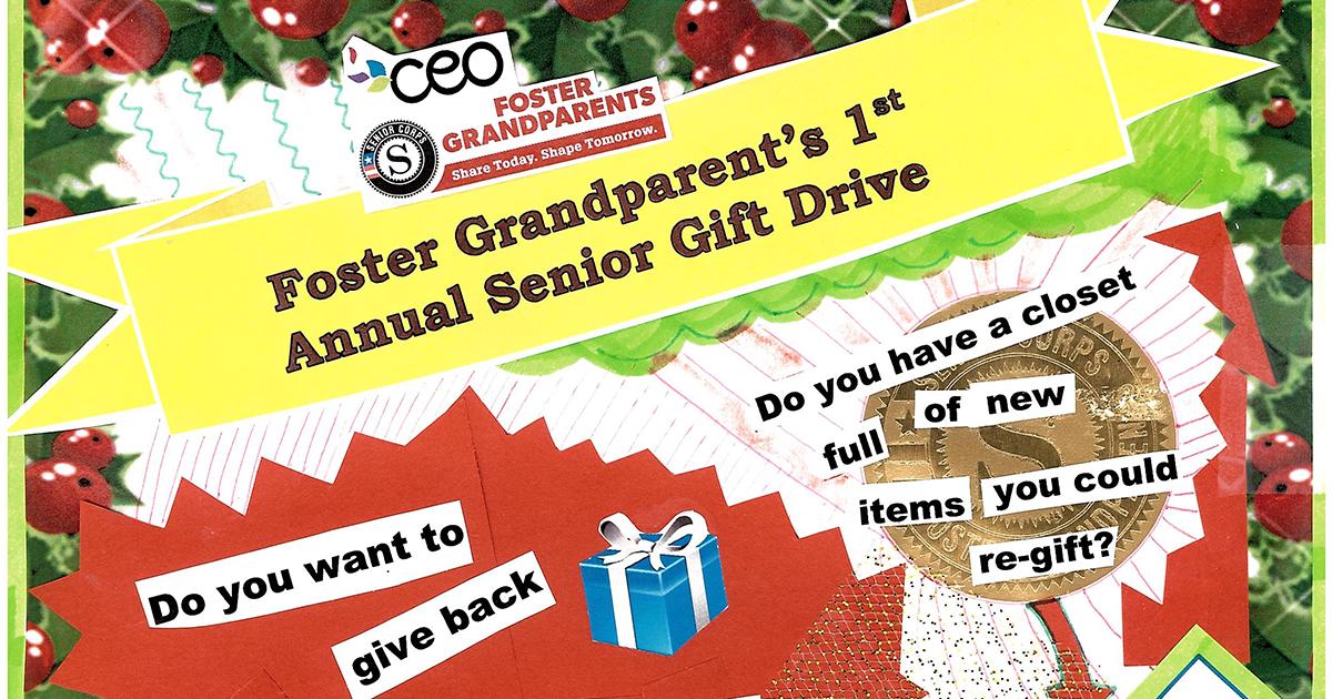 Foster Grandparent's 1st Annual Senior Gift Drive