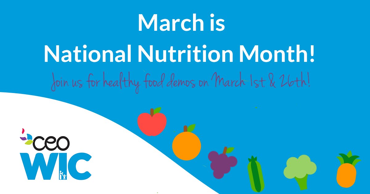Celebrate National Nutrition Month with WIC