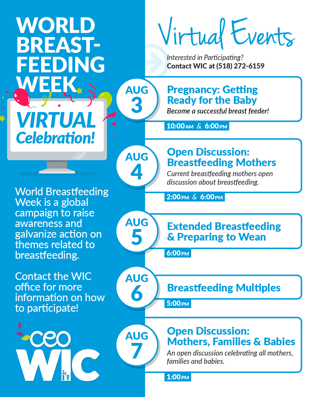 World Breastfeeding Week Goes Virtual